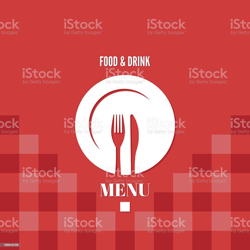 menu food and drink design vector art illustration