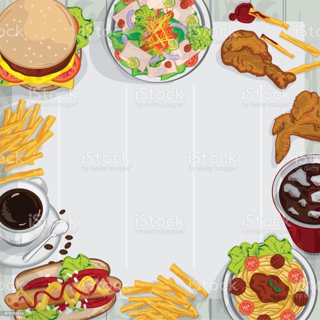 menu food design illustrate objects template background