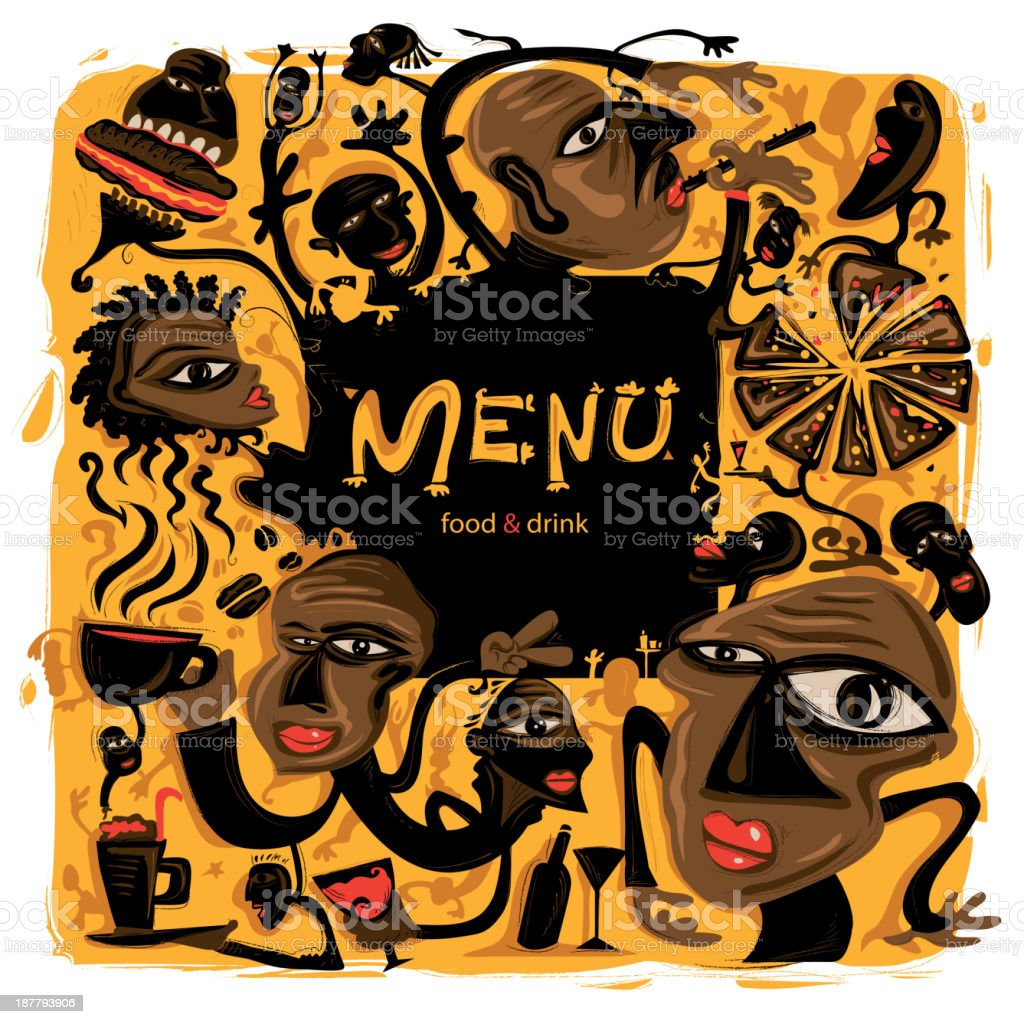 Menu for Food and Drinks royalty-free stock vector art