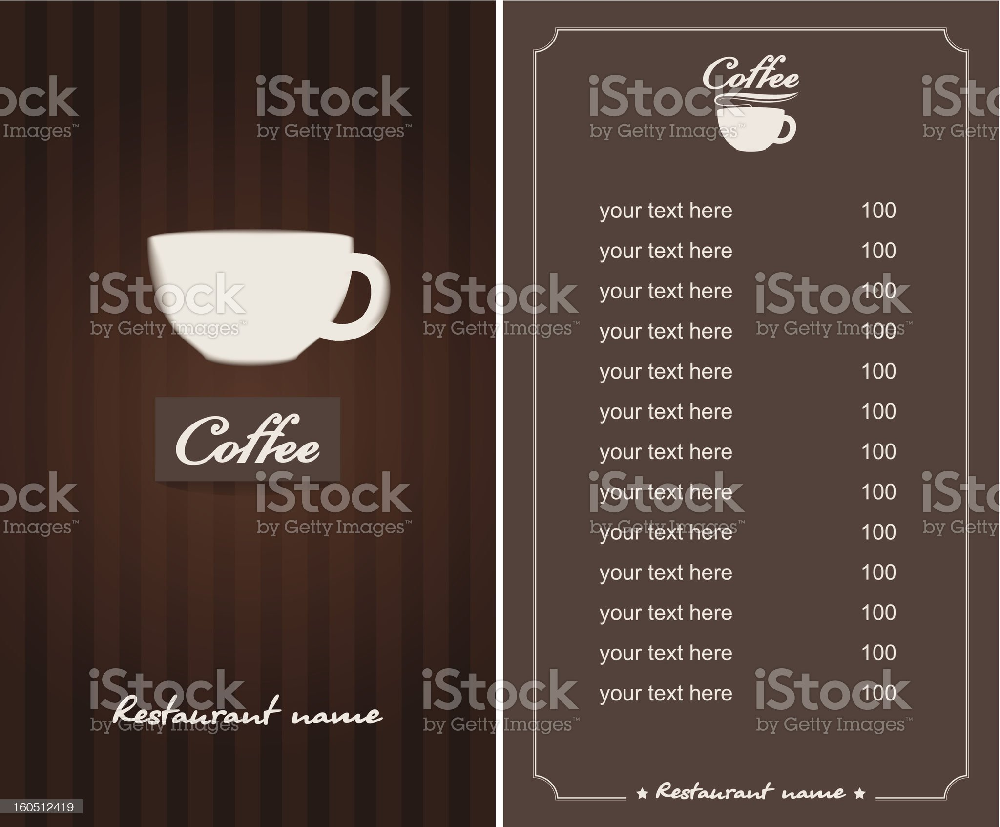 menu for the cafe royalty-free stock photo