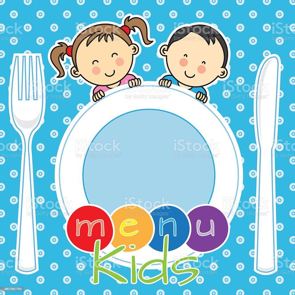 menu kids vector art illustration
