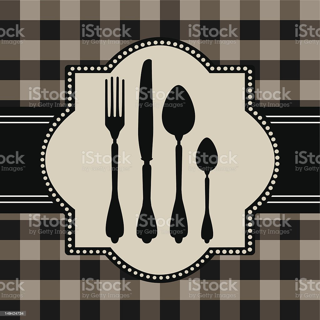 Menu of food card royalty-free stock vector art