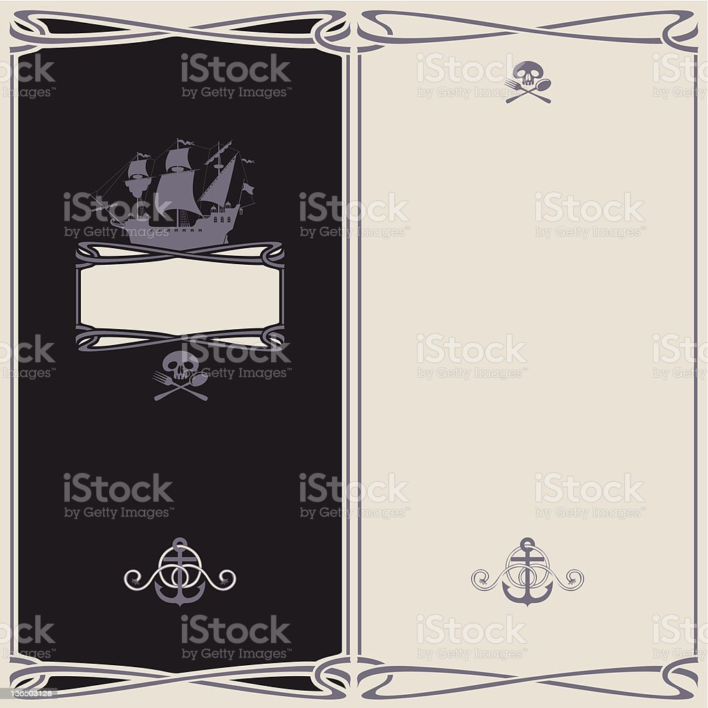 menu on the pirate theme royalty-free stock vector art