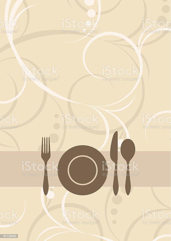 Menu or restaurant card royalty-free stock vector art