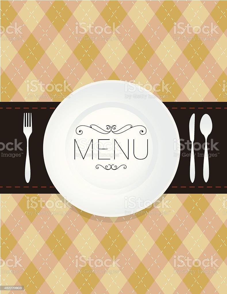 Menu Pattern Background vector art illustration