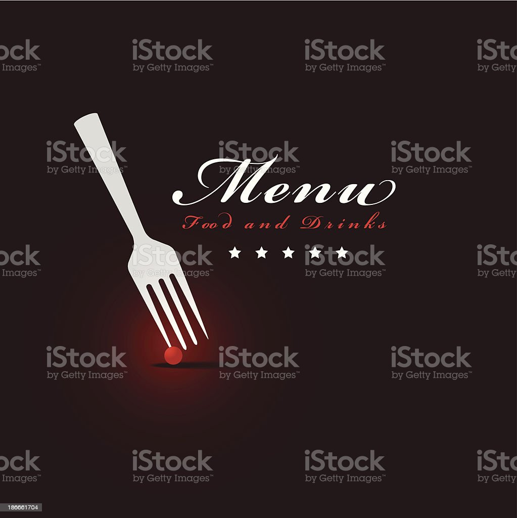 menu restaurant cover royalty-free stock vector art