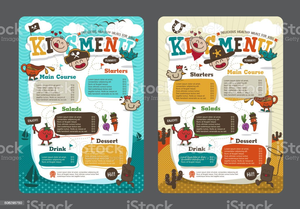 menu vector art illustration