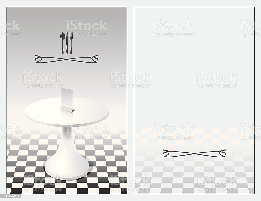 menu with a table royalty-free stock vector art