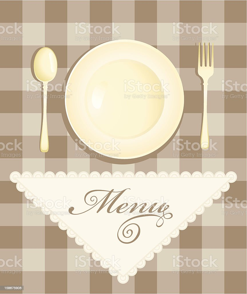 menu with cutlery royalty-free stock vector art