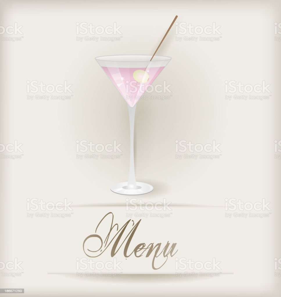 Menu with martini royalty-free stock vector art