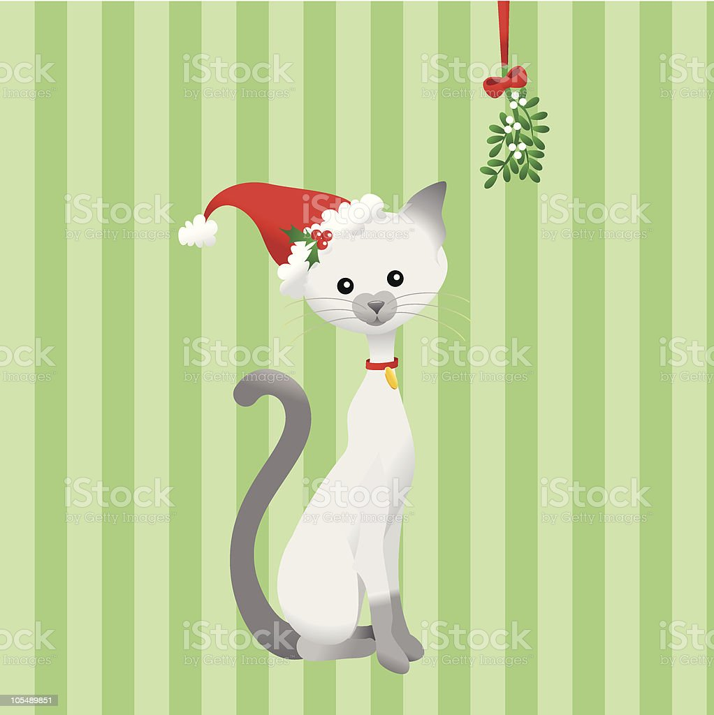 Meowy Christmas vector art illustration