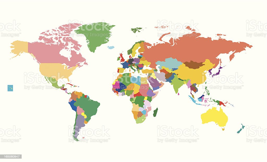Mercator atlas royalty-free stock vector art