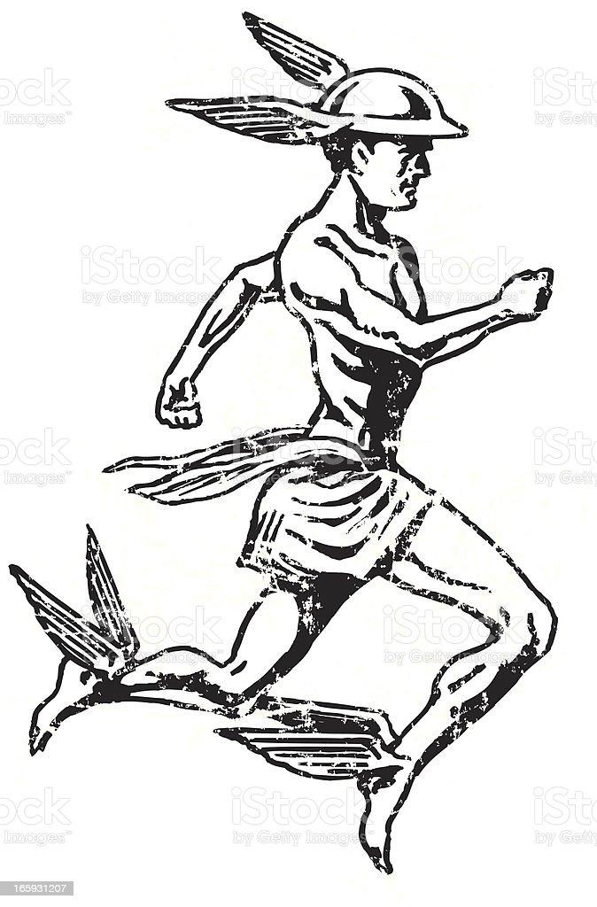 Mercury - Roman God, Hermes vector art illustration