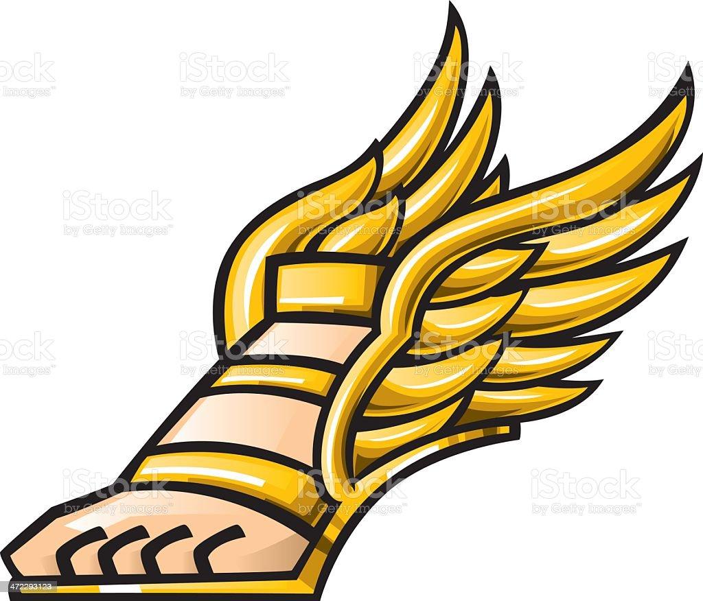 Mercury Winged Shoe stock vector art 472293123   iStock