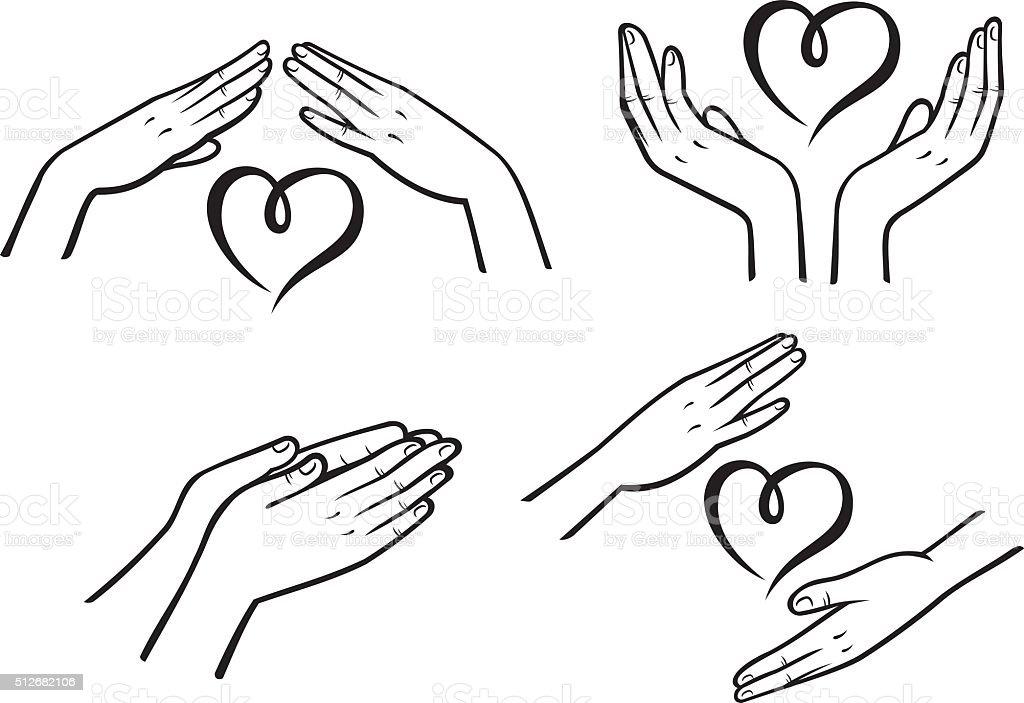 Mercy signs vector art illustration