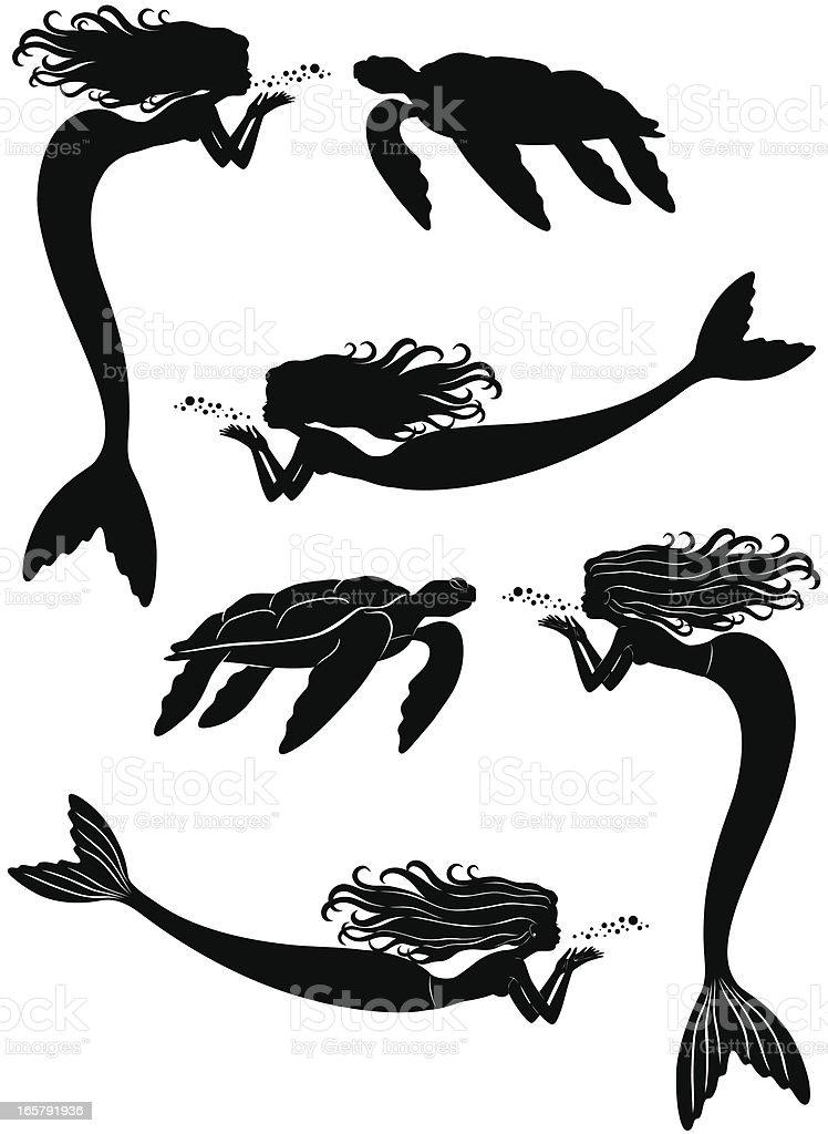 Mermaid Clip Art, Vector Images & Illustrations - iStock