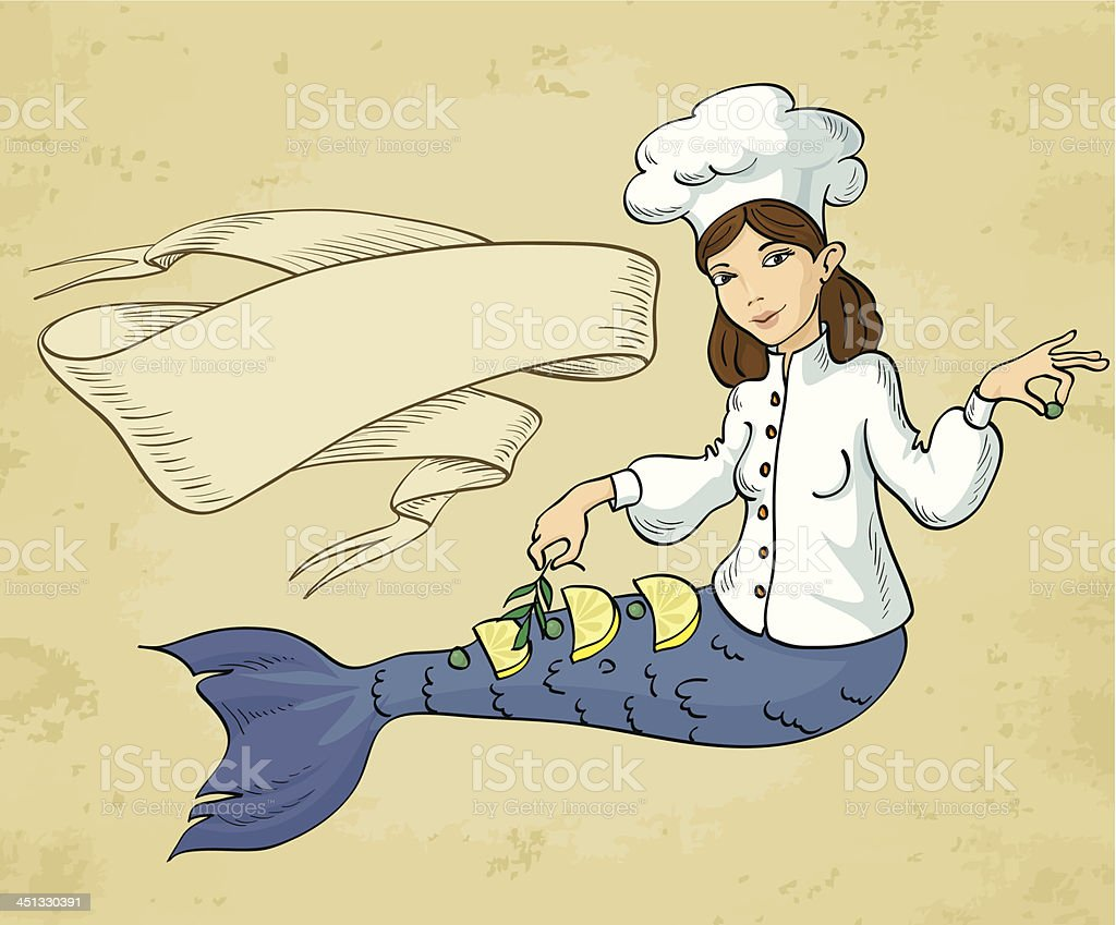 mermaid chef royalty-free stock vector art