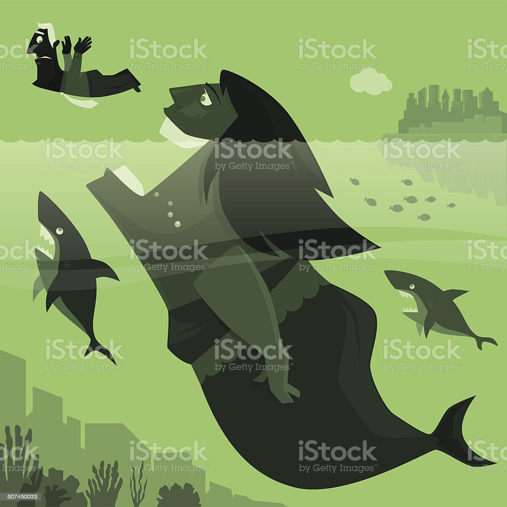 mermaid hunting royalty-free stock vector art