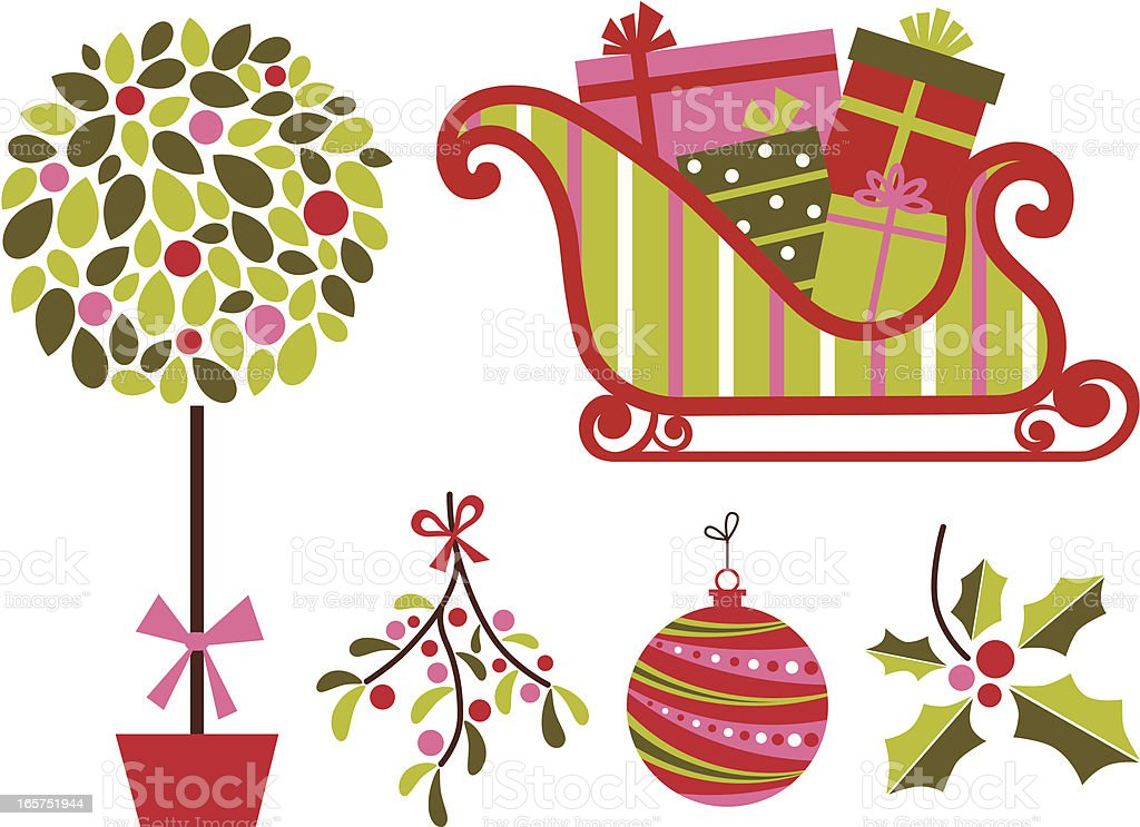 Merry and Bright vector art illustration