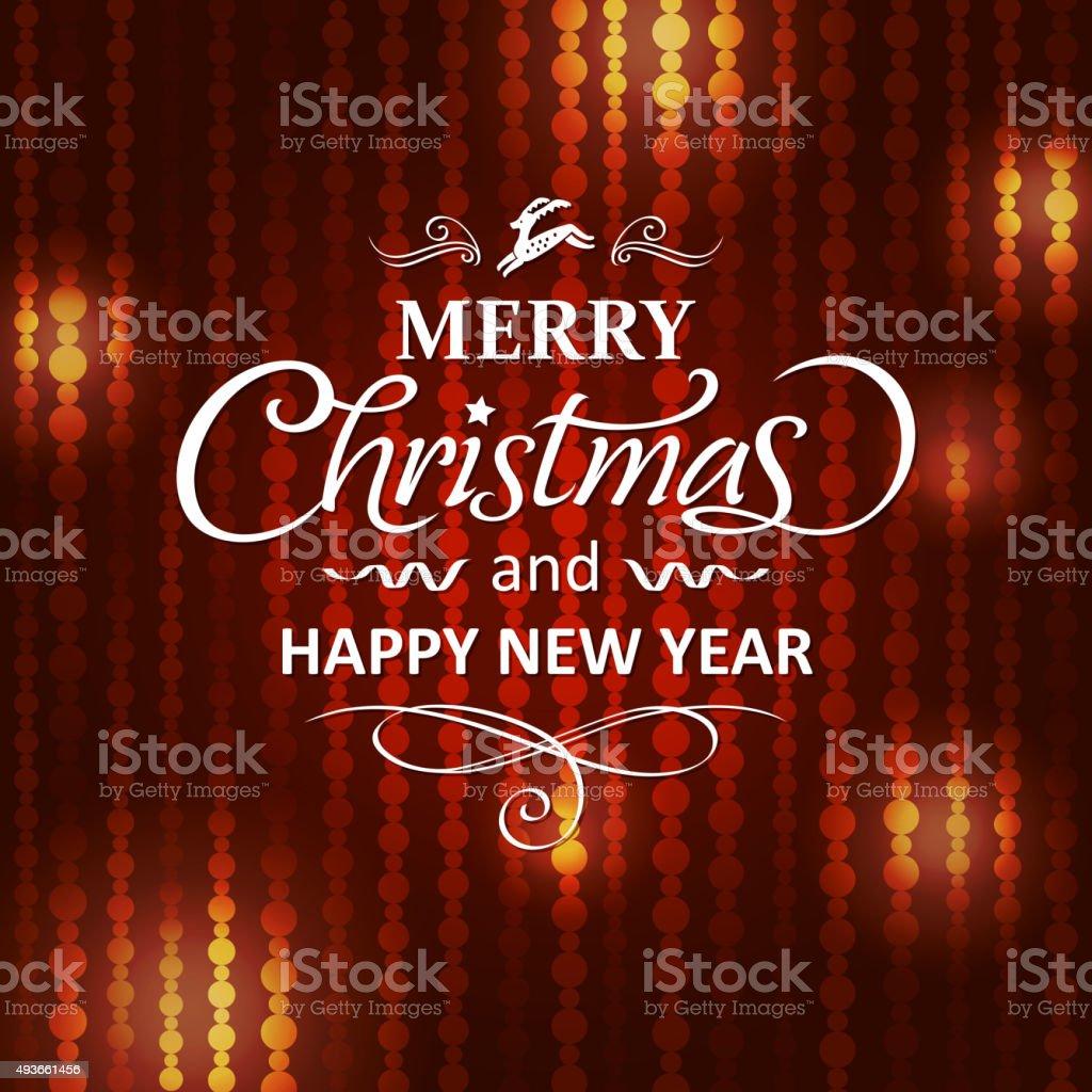 Merry christmas 2016 background vector art illustration