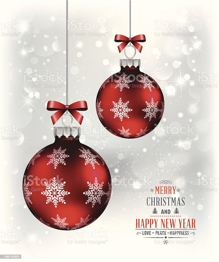 Merry christmas and happy new year background royalty-free stock vector art