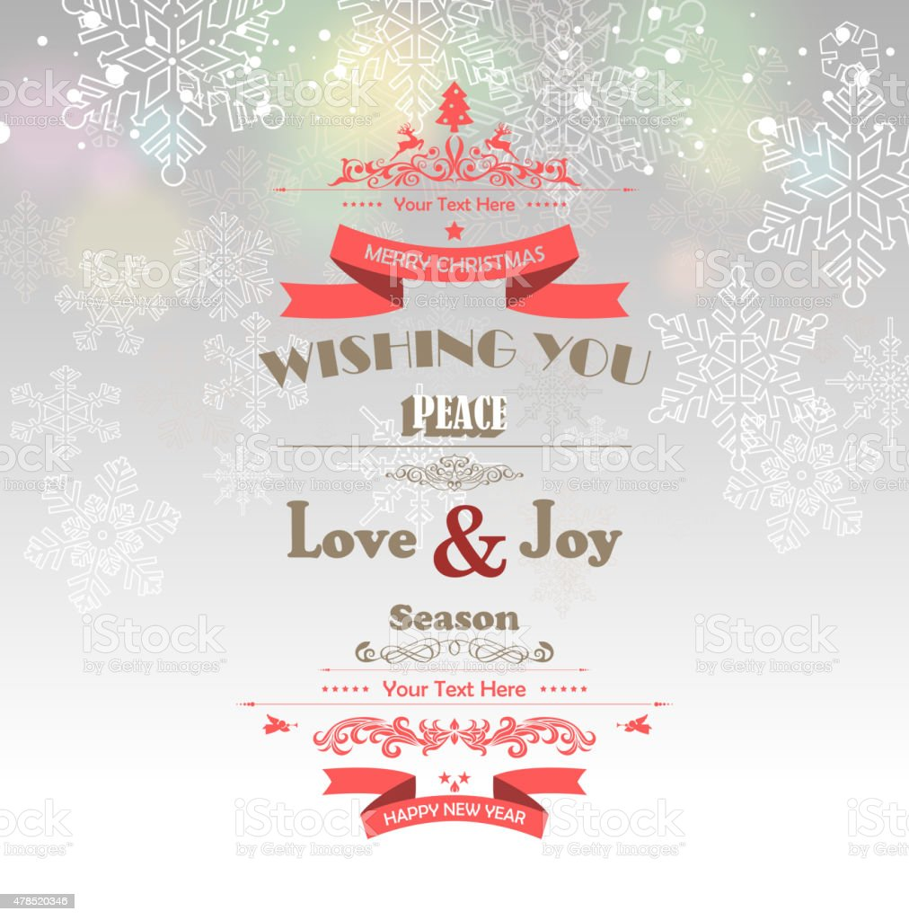 Merry Christmas and Happy New Year Background vector art illustration