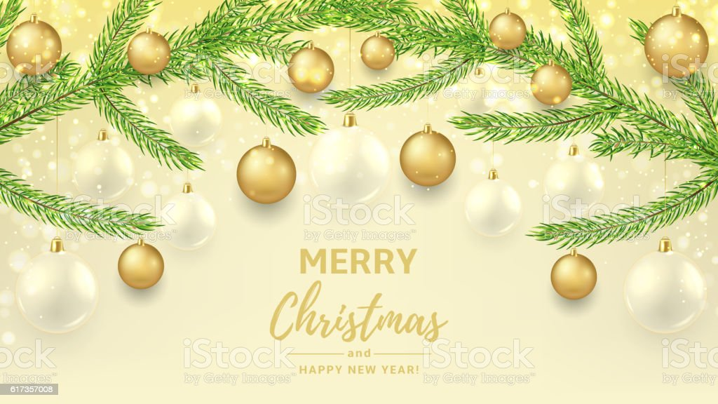 Merry Christmas and Happy New Year gift card royalty-free stock vector art