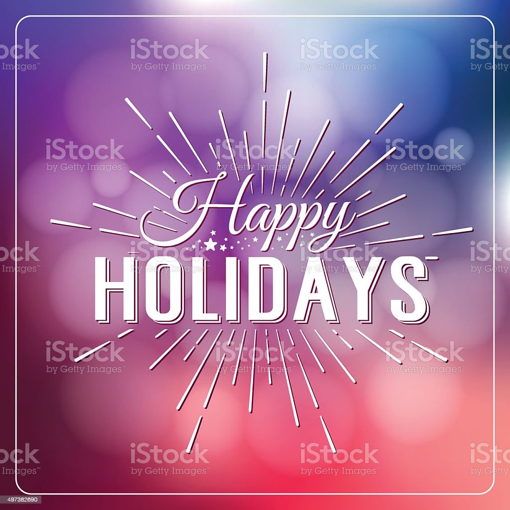 Merry Christmas and Happy New Year Holidays Calligraphic Label vector art illustration