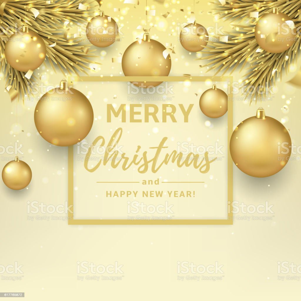 Merry Christmas and Happy New Year illustration royalty-free stock vector art
