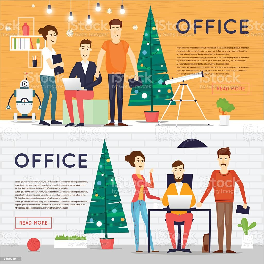 merry christmas and happy new year office businesspeople office 1 credit