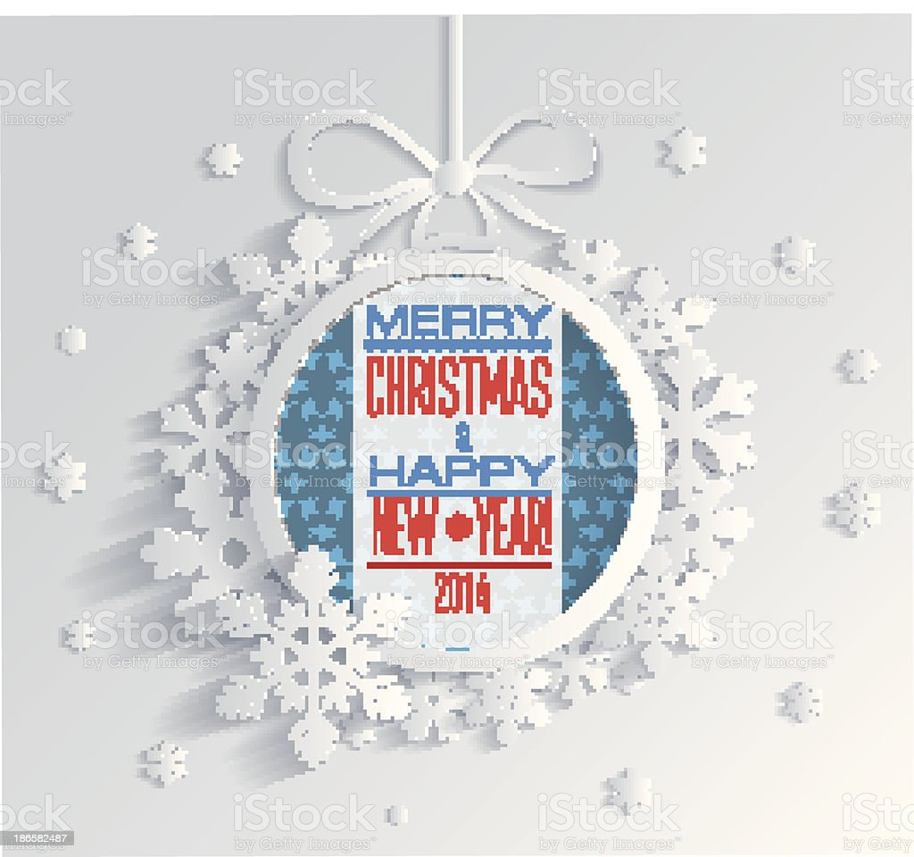 Merry Christmas and Happy New Year royalty-free stock vector art