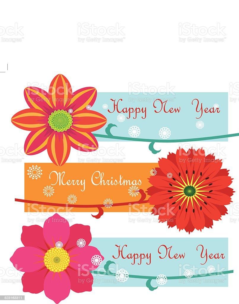 Buon Natale e felice anno nuovo illustrazione royalty-free
