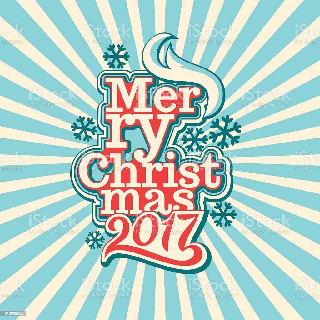 2017. Merry Christmas and Happy New Year. vector art illustration