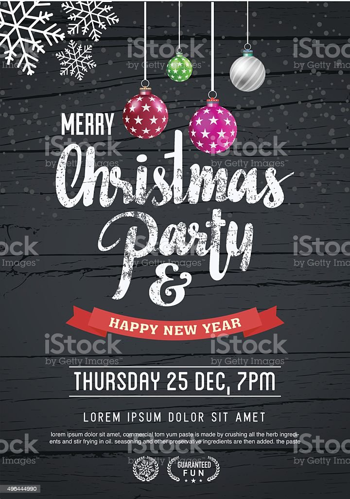 merry christmas and new year poster template. vector art illustration