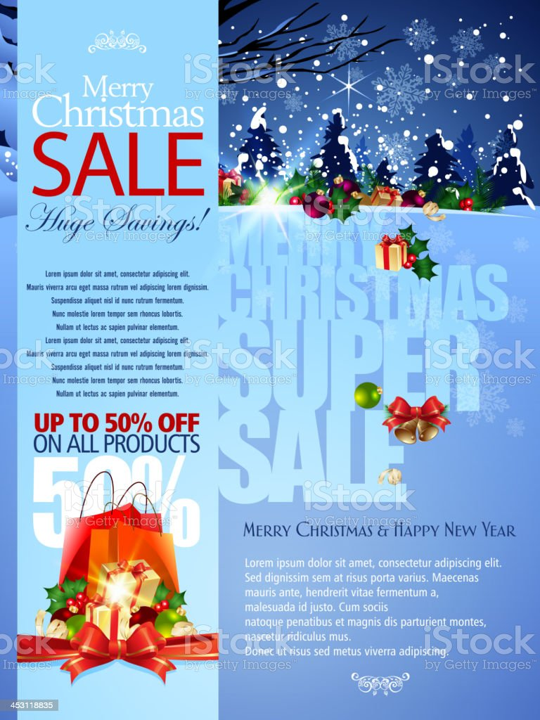 Merry Christmas and New Year Sale Promotions Background royalty-free stock vector art