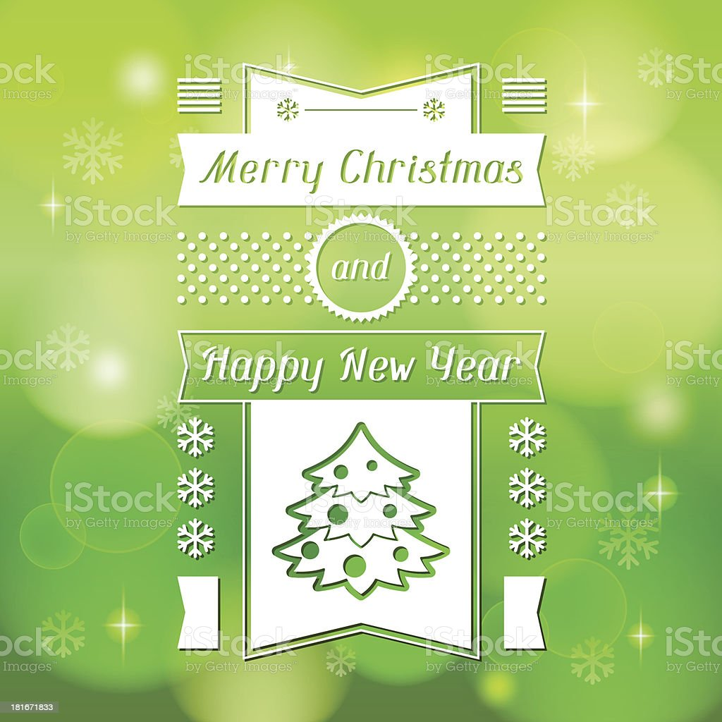Merry Christmas background for invitation card. royalty-free stock vector art