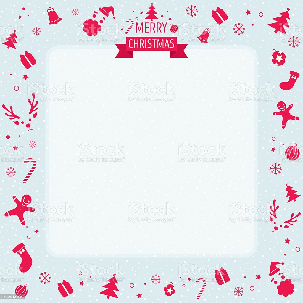 merry christmas background vector art illustration