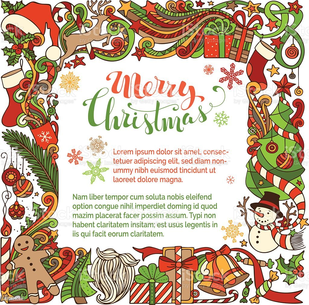 Merry Christmas background. vector art illustration
