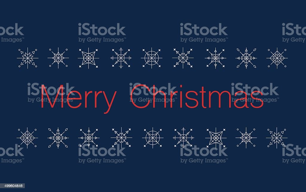 Merry Christmas Bunner with snowflakes royalty-free stock vector art