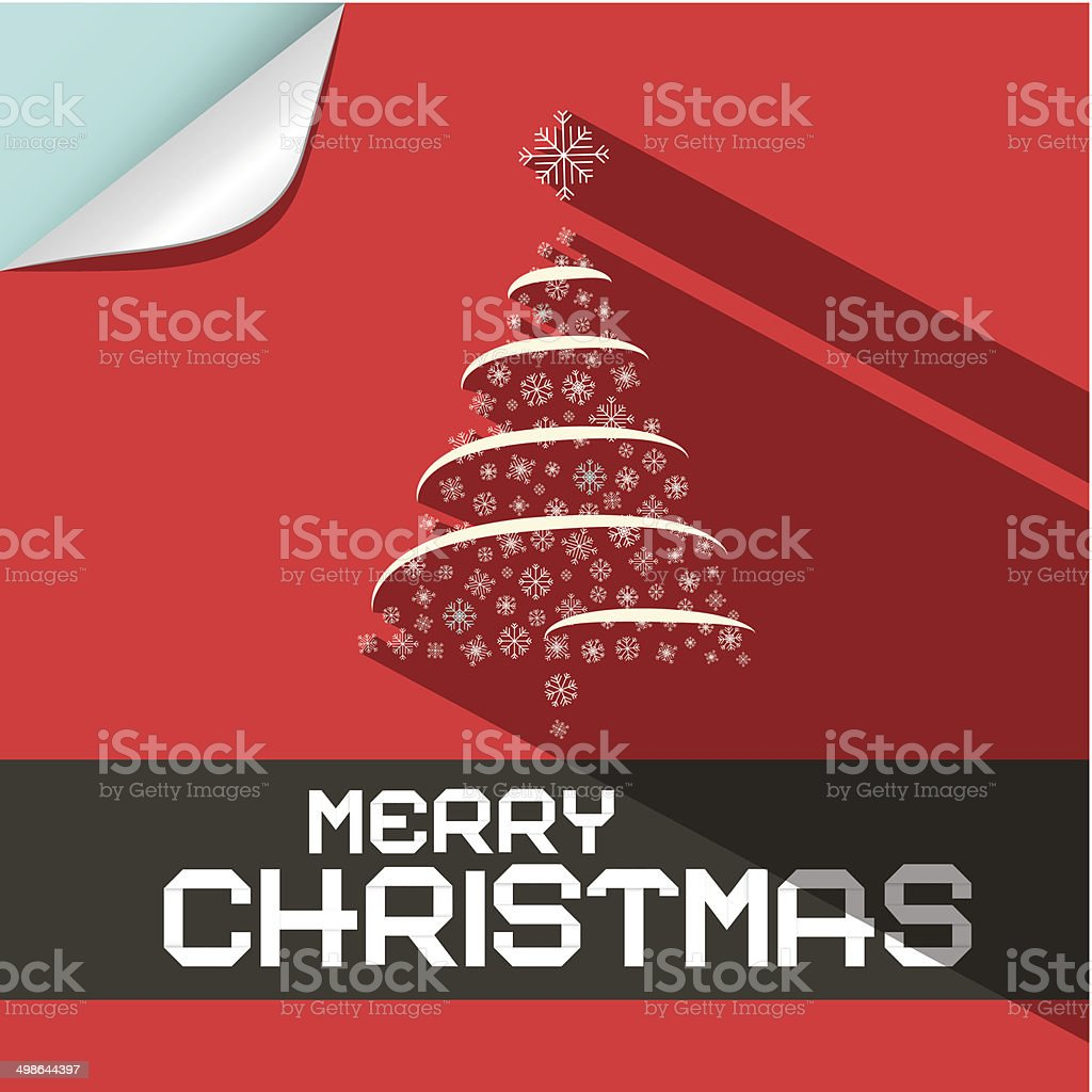 Merry Christmas Card Template royalty-free stock vector art
