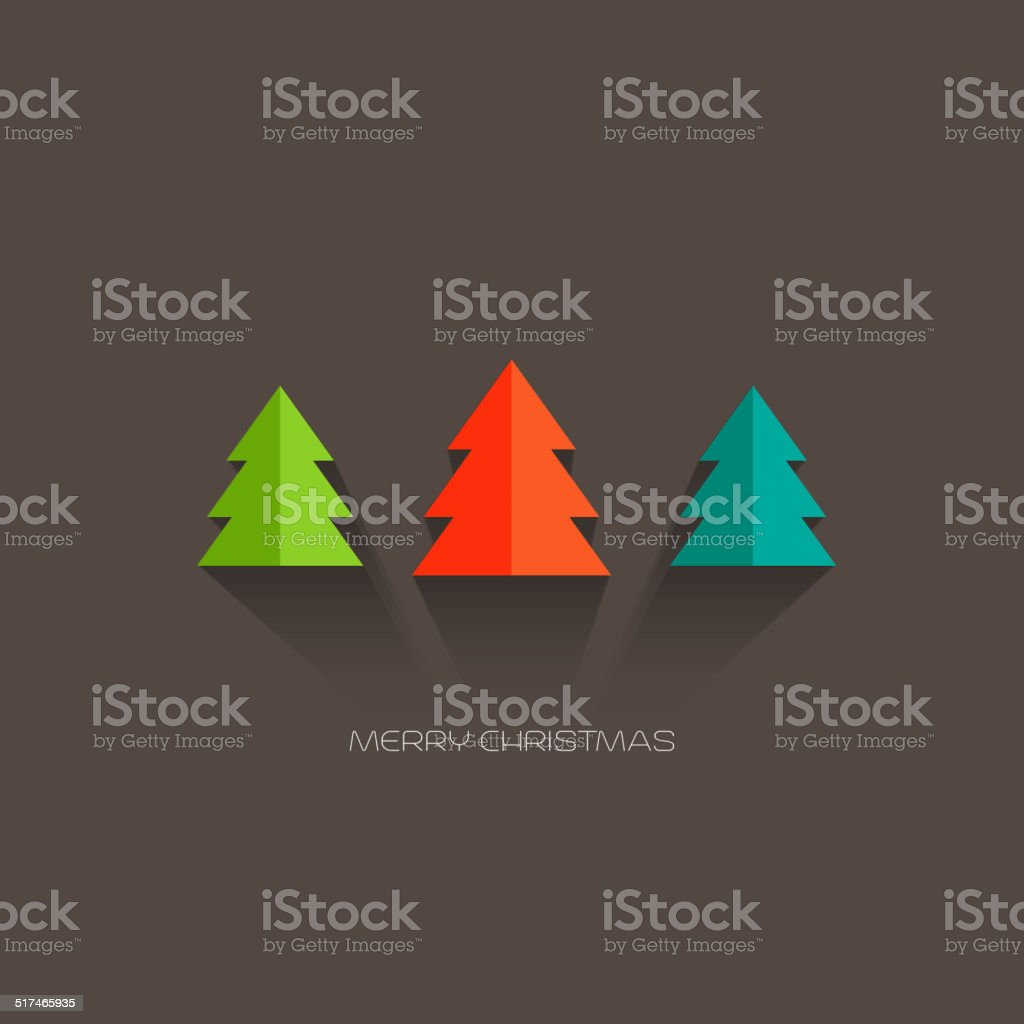 Merry Christmas card vector art illustration