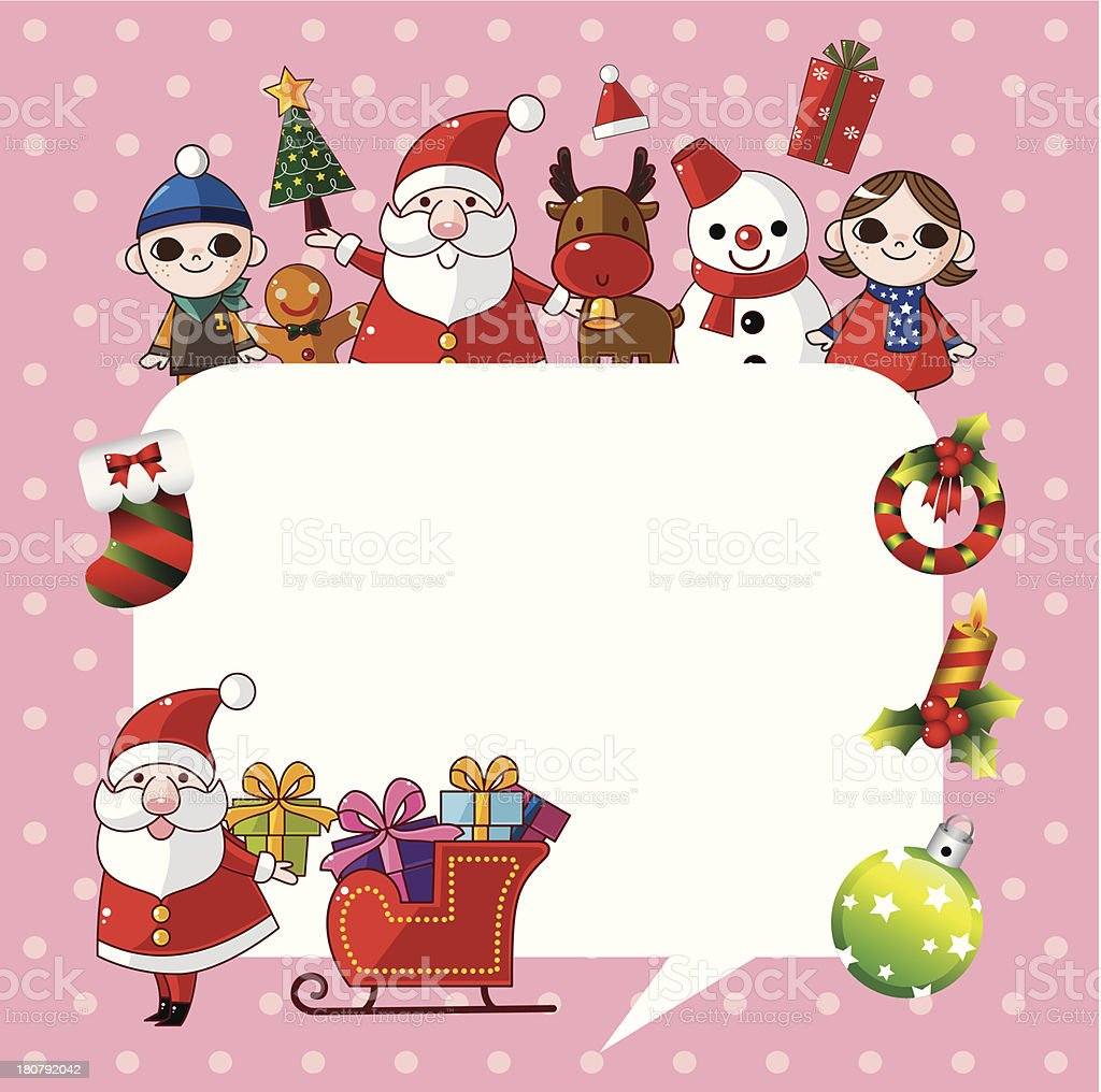 Merry Christmas card,background royalty-free stock vector art