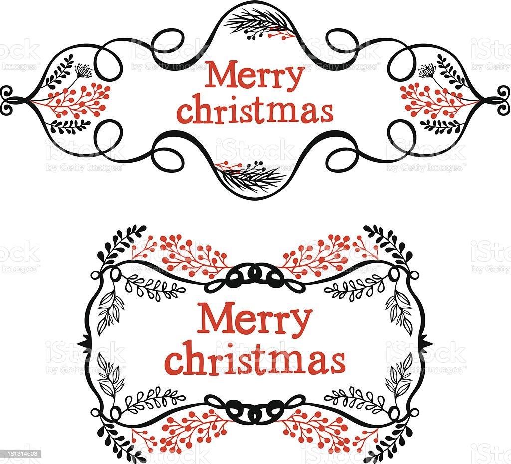 Merry christmas decorative design elements royalty-free stock vector art