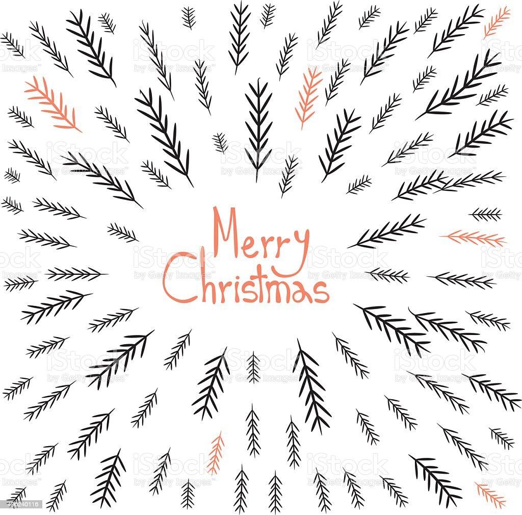 Merry Christmas! Decorative greating card vector art illustration