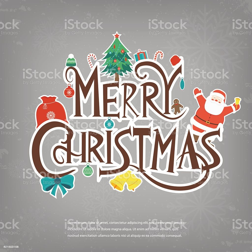 Merry Christmas design greeting card. Christmas background. Vector royalty-free stock vector art