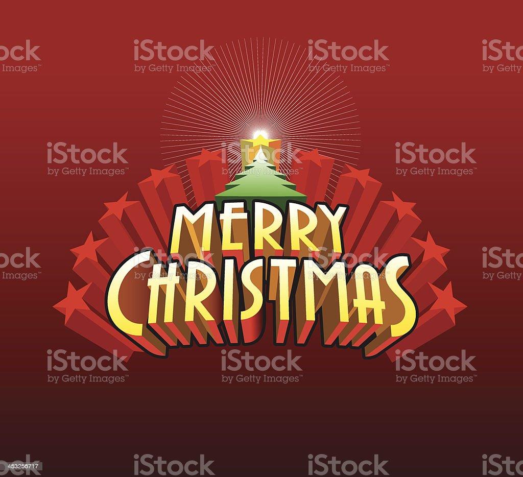 Merry Christmas design vector art illustration