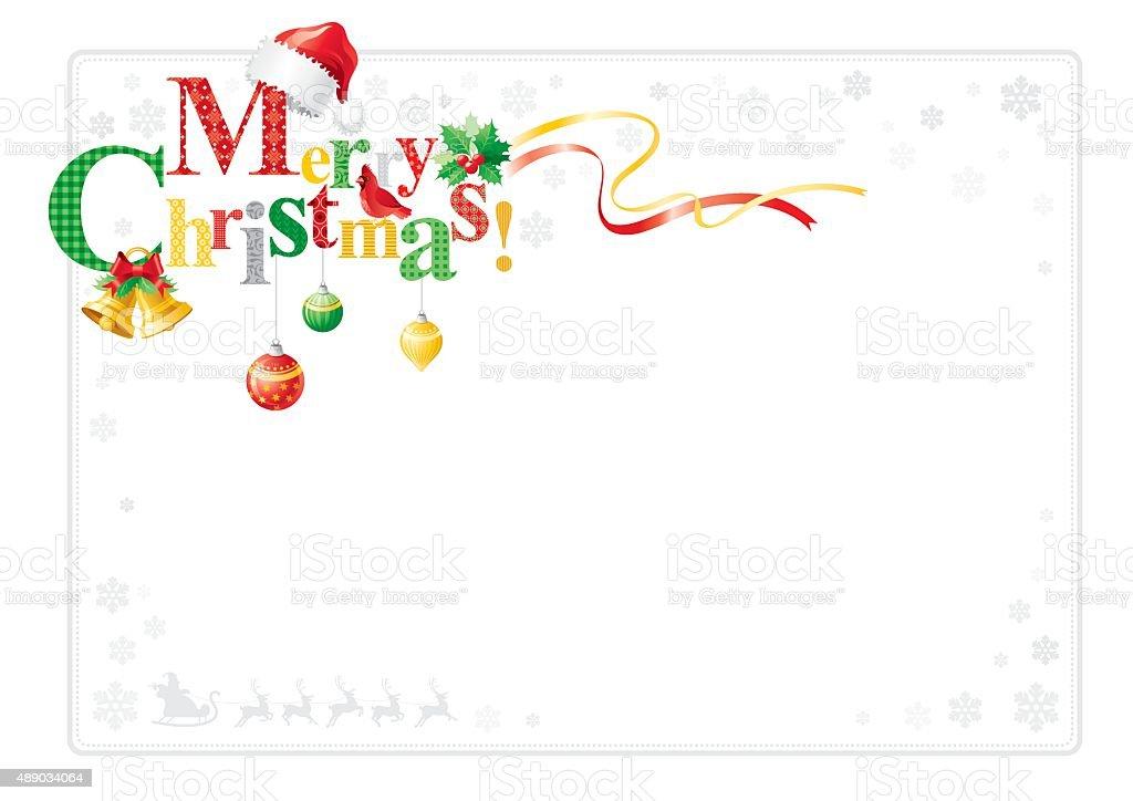 Merry Christmas frame vector art illustration