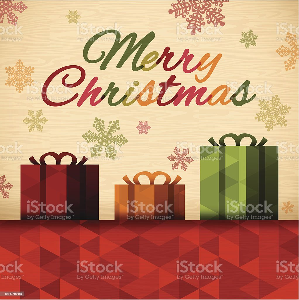 Merry Christmas Gift Message royalty-free stock vector art