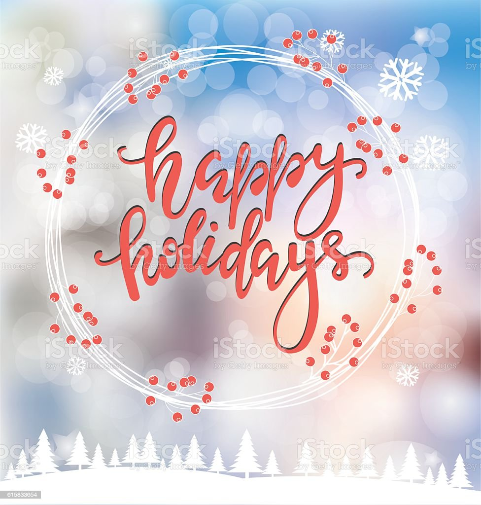 Merry Christmas greeting card vector art illustration