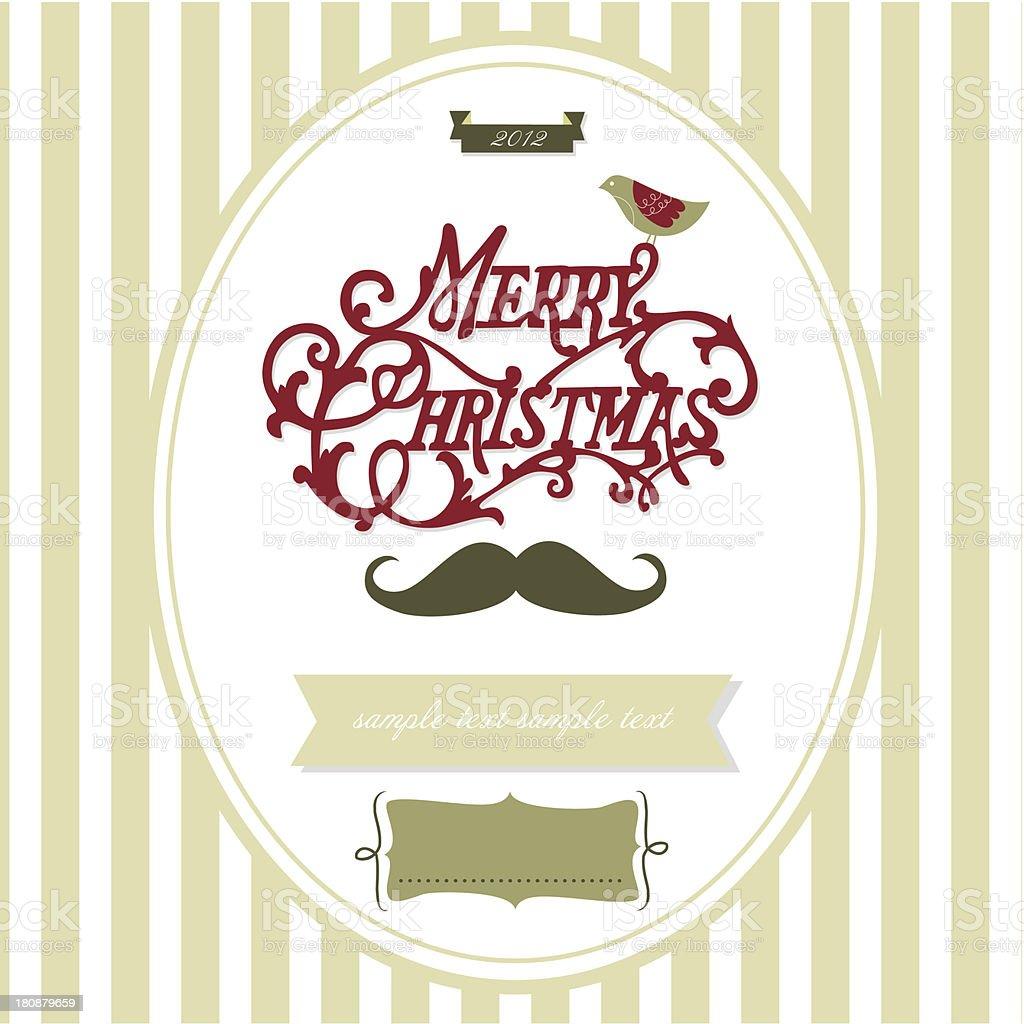 Merry Christmas greeting design royalty-free stock vector art